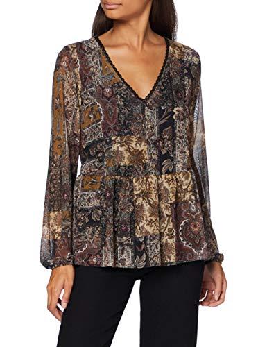 Desigual TS_Katrina T-Shirt, Marrone, L Donna