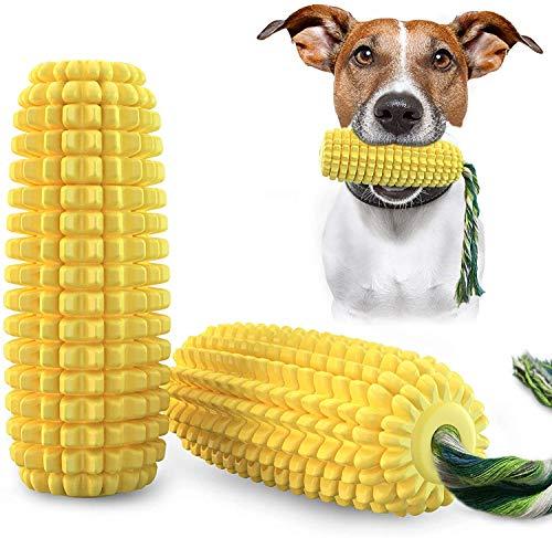 Juguete para masticar para perros, cepillo de dientes de goma natural, juguete para limpieza de dientes con cuerda de masticar, cepillo de dientes para perros pequeños, medianos y grandes