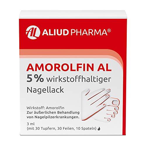 ALIUD PHARMA Amorolfin AL 5% wirkstoffhaltiger Nagellack, 3 ml: Behandlung von Nagelpilz mit Tupfern, Feilen & Spateln