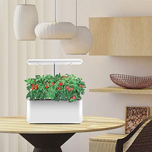 yaohuishanghang MacetasMacetas en el Interior Planta Interior Hidropónicos Cultivar Luz Soilless Cultivation Plant Grow Light Auto Flower Nursery Pot for Plant Nursery Grow Lamp (Color : White)