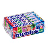 Mentos Rainbow Roll, Caramelle Confettate al Gusto Frutta Assortite, Anguria, Fragola, Mela, Arancia, Pompelmo, Lampone e Mirtillo - Confezione da 15 Roll da 38 gr. [570 gr.]