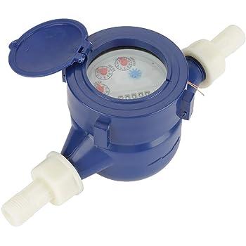 UEB compteur pour eau froide de 15/mm 1//2/pouces pour utilisation domestique et jardin avec raccords compteur deau froide