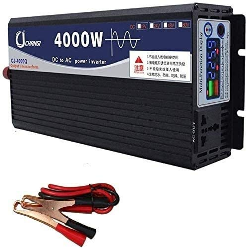 UNBQ coche convertidor Potencia del inversor de onda sinusoidal pura 600W-6000W de onda sinusoidal pura inversor de potencia de CC del inversor de CC 12V / 24V / 48V / 60V a 220V AC Conversor de coche
