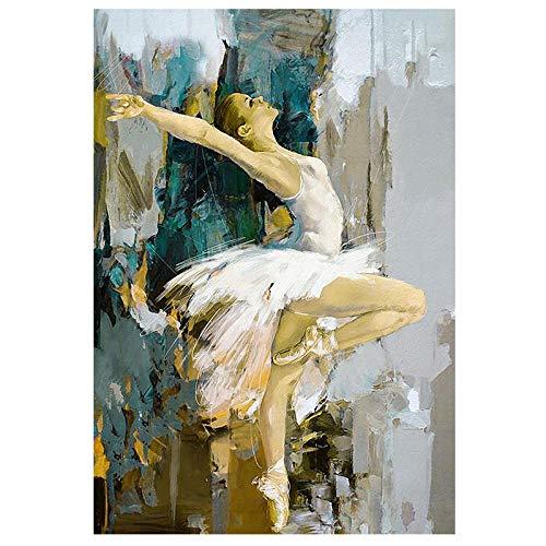 Tanzen Ballerina Bild Leinwand Abstrakte Poster Berühmter Künstler Ölgemälde Vintage Wand Bilder Wohnzimmer Mädchen Schlafzimmer Dekor Bilder 50X70cm Ungerahmt