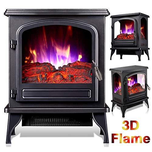 YYBF Heizung Elektro-Ofen, 2 Heizstufen 1000-2000 W, Mit Realistischem Flammenbild, Elektro-Kamin Heizung Überhitzungsschutz