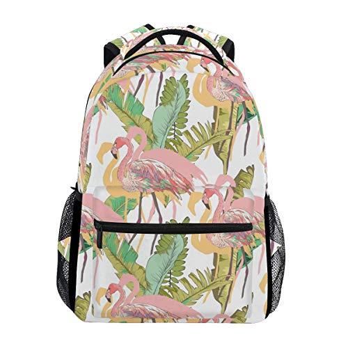 poiuytrew Flamingos Mochila Estudiantes Bolsas de Hombro Bolsa de Viaje Mochilas Escolares para Hombres y Mujeres