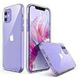 ULAK Compatible with iPhone 12 Case/iPhone 12 Pro Clear Case, Clear Slim Protective Phone Cover Designed Transparent Anti-Scratch Shock Absorption TPU Bumper, Crystal Clear