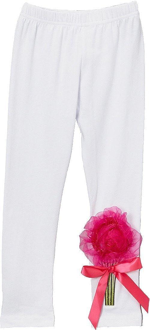 wenchoice Girl's White Organdy Flower Leggings