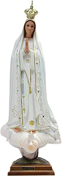 Our Lady Of Fatima Statue Religious Figurine Virgin Mary Madonna Made In Portugal 23 5 60 Cm 1036