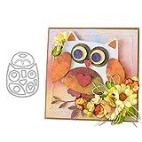 P12cheng Fustelle Metallo Stencil,Animale Gufo Die Cuts Stampino per Fai da Te Scrapbooking Carte di Carta Craft Emboss Xmas Card Decorazioni Artigianali