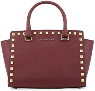 eb854ad81c28 MICHAEL Michael Kors Selma Stud Leather Satchel Shoulder Bag - Merlot