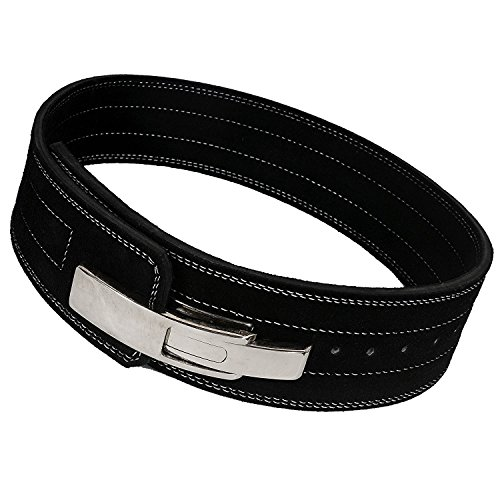 ARD CHAMPS10MM Weight Power Lifting Leather Lever Pro Belt Gym Training Black (XS)