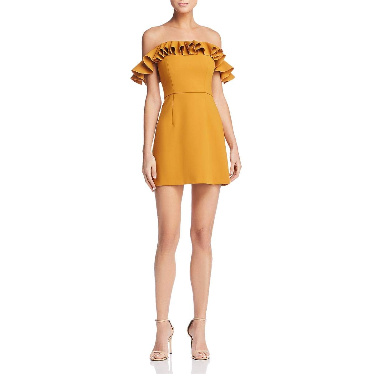 Available at Amazon: French Connection Women's Ruffled Off-The-Shoulder Cocktail Dress