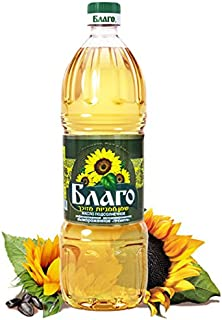 Blago Sunflower Oil Premium (Refined, Deodorized) 33.8 Fl Oz / 1 Litre. Imported from Russia