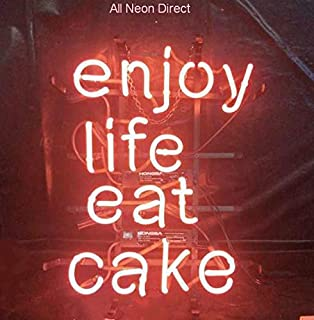 eat cake neon sign