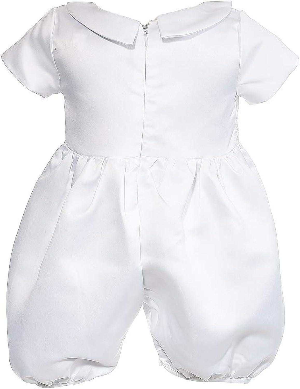 Boutique-Magique Gilet Blanc gar/çon avec Bonnet pour bapt/ême