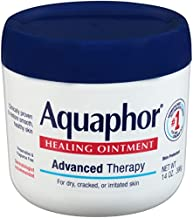 Aquaphor Healing Ointment Moisturizing Skin Protectant for Dry Cracked Hands Heels and Elbows Use After Hand Washing Oz Jar, bA, Fragrance Free, 14 Ounce