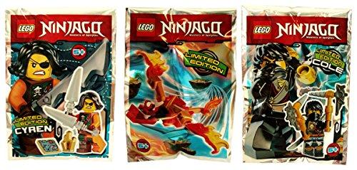 Lego Ninjago – Figura coleccionable Cyren + Cole + Dragón – Blue Ocean