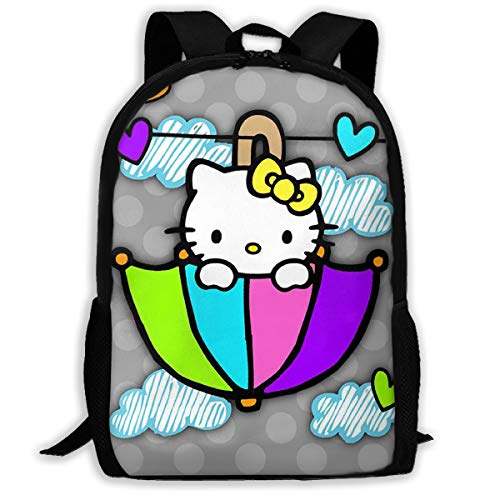 LIUYAN - Mochila Escolar Hello Kitty Paraguas Personalizable
