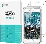 Syncwire Protector de pantalla de cristal templado compatible con iPhone 7 iPhone 8, 3 unidades, dureza 9H, 2,5D, ultra transparente