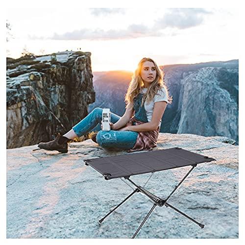 ZHMEHE Mesas Plegables De Picnic Mesa De Aluminio, Tela De Nailon Mesa De Picnic Plegableportátil para Barbacoa De Escritorio Plegable Plegable para Barbacoa De Camping Al Aire Libre Picnic