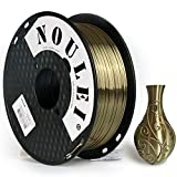 Noulei PLA Shiny Filament, 3D Drucker Filament 1.75mm, Silk Antique Gold, 1 kg Spool