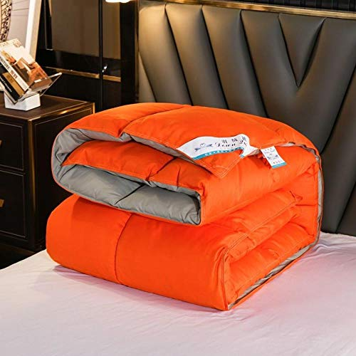 CHOU DAN Down duvet 95 white goose down quilt spring and autumn thickened warm winter quilt double student quilt core-150x200cm 3000g_Orange gray