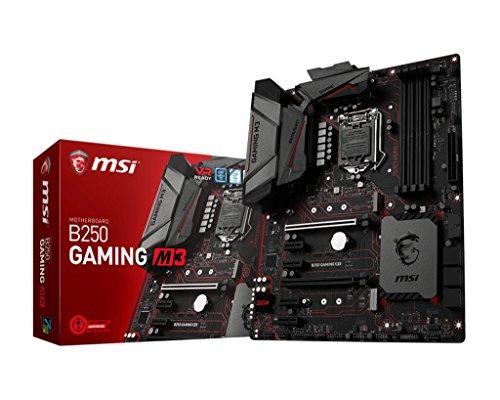 MSI B250 Gaming M3 Mainboard (DDR4-SDRAM, DIMM, 2400, 2133 MHz, Dual, 1.2, 1.35V, 64 GB) schwarz