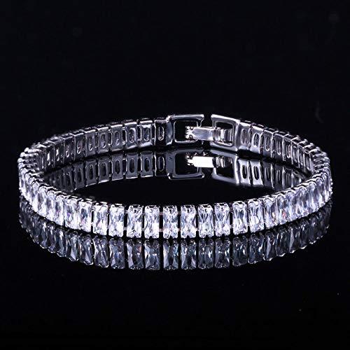 Pulsera para mujer con circonitas cúbicas de lujo de oro amarillo Dubai joyería Wrap pulsera para mujeres boda fiesta regalo plata