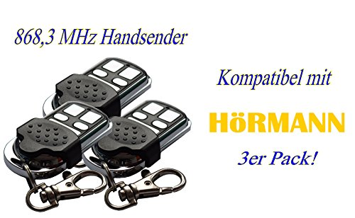 3 x Schartec Handsender 868 MHz für Hörmann und Marantec Garagentorantriebe. Ersetzt HSM 4 HSE 2 HS 4 HSP HSD Digital 302-304 - 313-321 Fernbedienung garagentoröffner