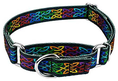 Country Brook Petz - Premium Celtic Pride Martingale Dog Collar - Irish Pride Collection with 2 Lucky Designs (1/2 Inch, Extra Small)