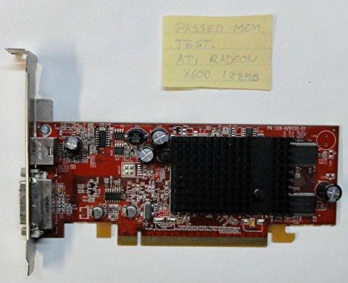 ATI 109-A26030-01 ATI Radeon X600 128MB PCI-E DVI W/TV-Out Video Card ATI Radeon X600 SE PN 109-A26030-01 128MB PCIe Video Card DVI S-Video