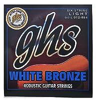 GHS (ジーエイチエス) アコースティックギター弦 WB-L WHITE BRONZE - Standard Light 012-054