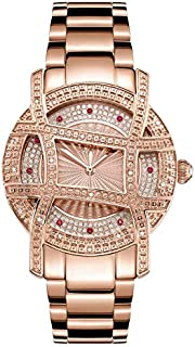 JBW Women's Olympia 0.20 ctw Diamond 18K Rose Gold-Plated Stainless Steel Watch - JB-6214-10A