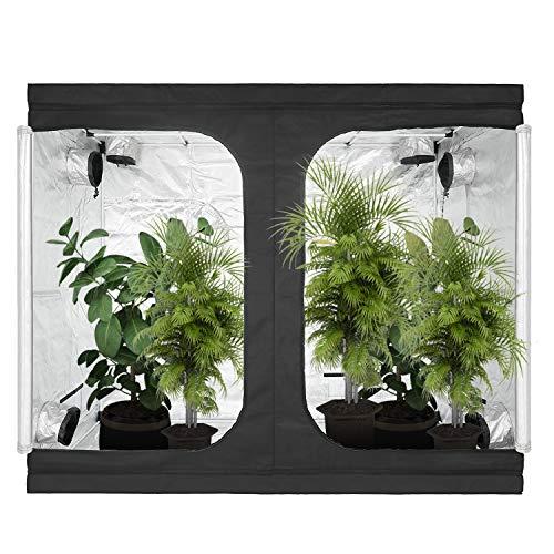 GreenArchitecture Grow Tent 240x120x200 CM Reflective Mylar Hydroponic Grow...