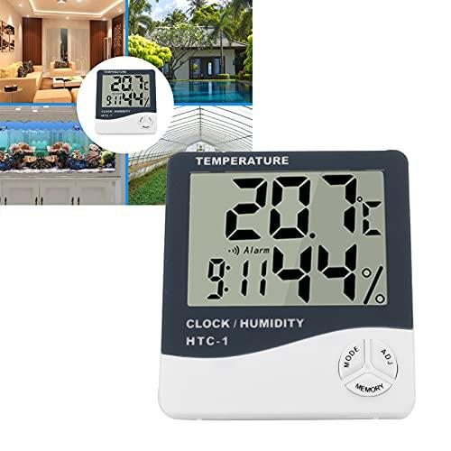 Monitor eletrônico digital de temperatura, higrômetro digital, 10% ~ 99% UR para escritório doméstico