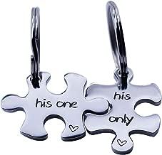 omodofo Jigsaw Puzzle Piece Keychains Set of 2 Gay Boyfriend Couples Jewelry LGBT Lesbian Girlfriend Anniversary Valentines Day Wedding Gifts