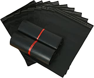 "100 Count #4 10 x 13 Inch Oknuu Packaging Supplies Black Poly Mailers Self-Sealing Shipping Envelopes Plastic Mailing Bags 2.5 Mil Thickness 10""x13"" (100 Pack)"
