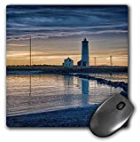 RONI CHASTAIN PHOTOGRAPHY - SUNSET BY THE LIGHTHOUSE IN REYKJAVIK, ICELAND - MousePad (mp_173622_1)