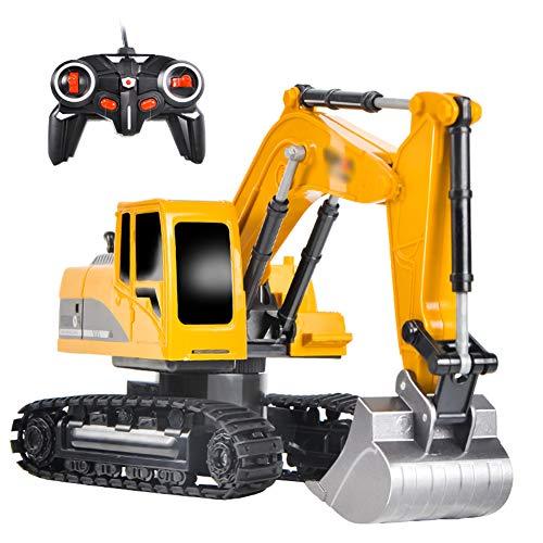 CHEN. Juguete de aleación de simulación eléctrica Excavadora Excavadora de Juguete Coche de ingeniería de Control de Excavadora niño niños máquina de Gancho de Coche de Juguete Remoto inalámbrico