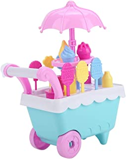 Children Candy Cart Toy, Mini Ice Cream Cart, for Girls, Boys Kids Over 3 Years Old Birthday Gift