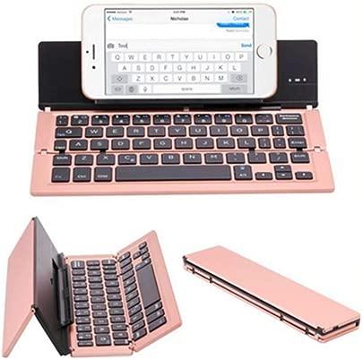 HIU Folding Bluetooth Keyboard Wiederaufladbare Tragbare BT Drahtlose Faltbare Mini-Tastatur F r Tablet Oder Anderen Handys Rosa Schätzpreis : 45,03 €