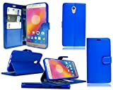 Lenovo P2 P2A42 Leather Flip Stand Wallet Phone Case - Blue