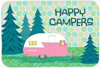 Caroline's Treasures VHA3004MP Happy Campers Glamping Trailer Mouse Pad, Hot Pad or Trivet, Large, Multicolor [並行輸入品]