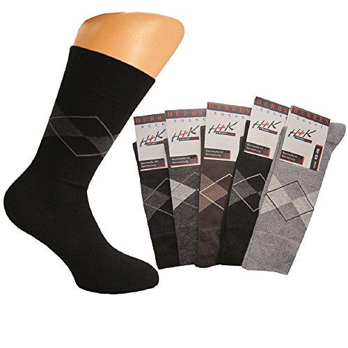 Art of baan 8 Paar Herren Socken aus Baumwolle Nadeldichte 200 farbig gemischt 43-46