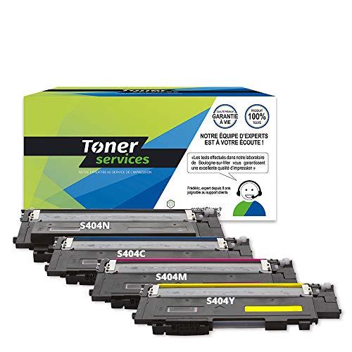 Tóner Service - Juego de 4 cartuchos de tóner para Samsung CLT-P404C (SU365A)