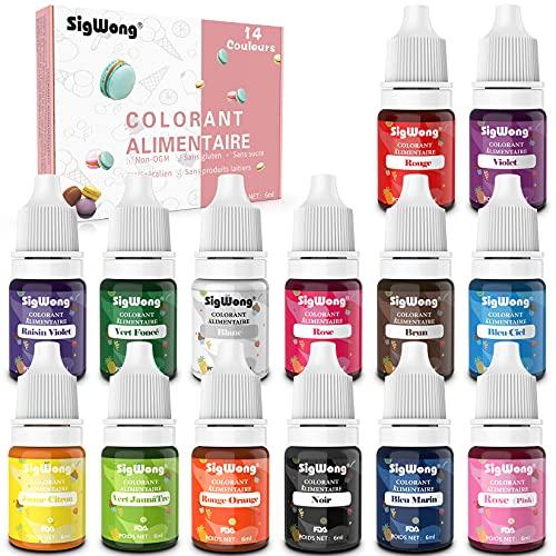 Colorant Alimentaire Liquide Concentré Nourriture Dye - 14...