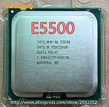 Cailiaoxindong E5500 Desktop Pentium CPU E5500 2.8GHz 2MB/ Processor LGA 775 scrattered Pieces