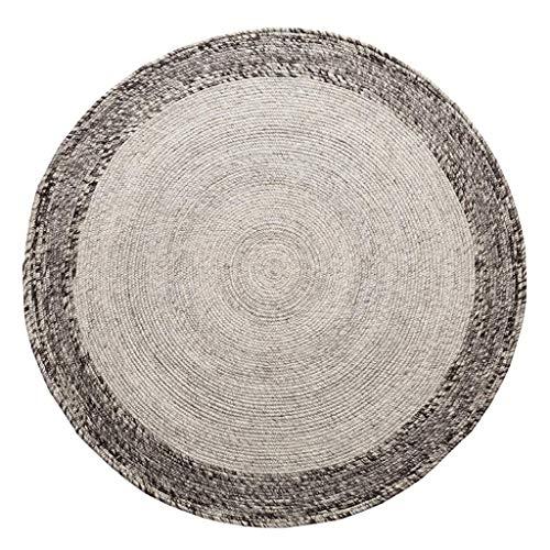 Wohnzimmer Bodenmatte Dekoration, Teppiche runder Teppich Einfache Schlafzimmer Teppich Handgefertigter Teppich, stilvolle Nachtdecke Kurzflor Tatami Soft Durable Pad/Durchmesser 120cm