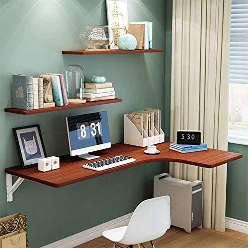 Lsqdwy Mesa Plegable Flotante montada en la Pared, Escritorio de Comedor de Acero Inoxidable con Hoja abatible, Escritorio de computadora, mesas de Caballete Colgantes para Oficina, Cocina en casa,